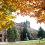 Saint Meinrad Seminary and School of Theology. Academic building surrounded by trees.